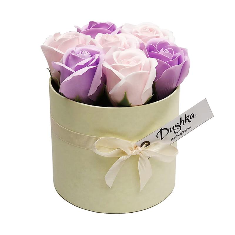 Image of Bukiet mydlany LUX Róża Fioletowo-różowy
